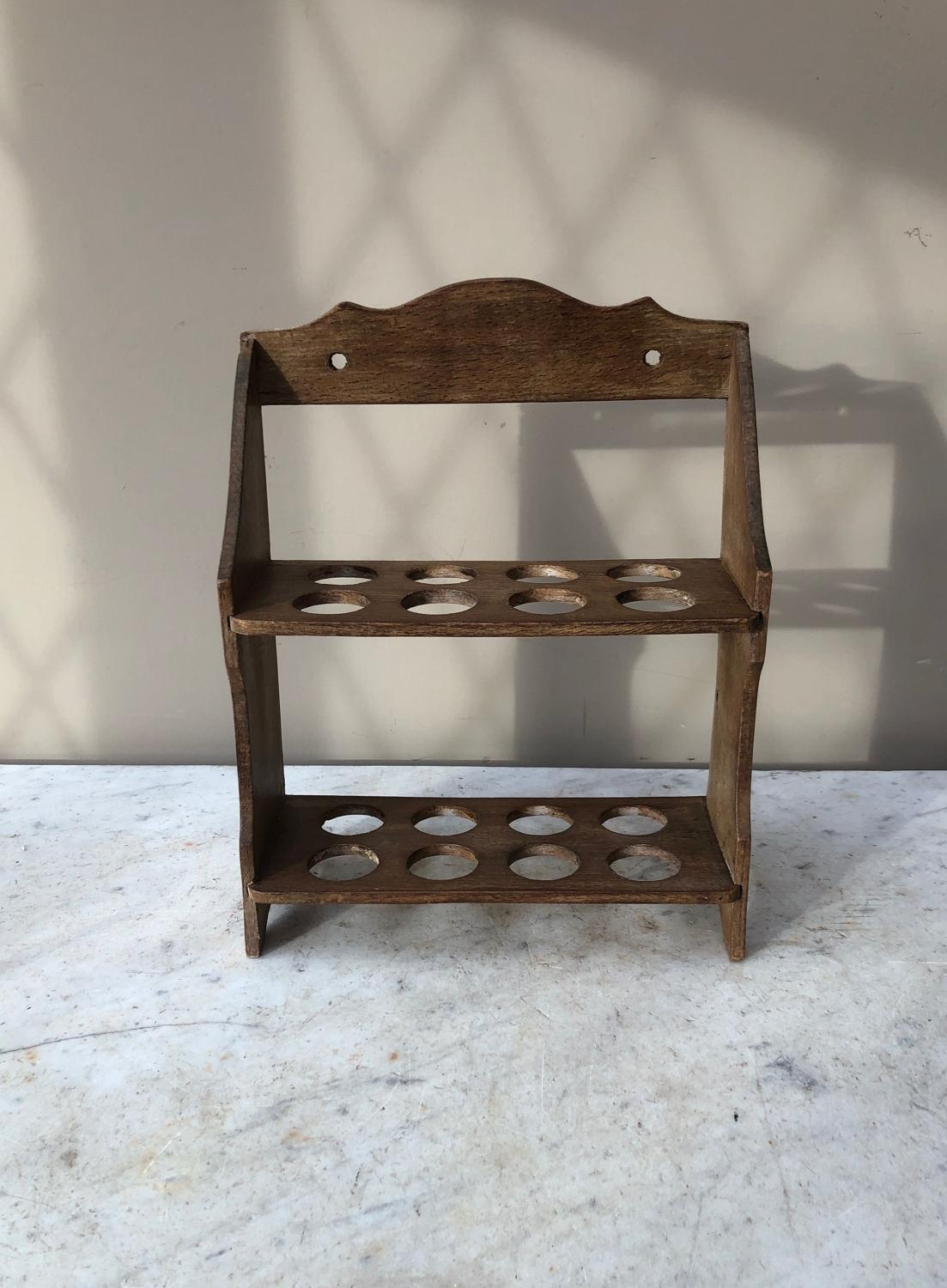 Early 20th Century Two Tier Egg Rack - Wall Hung