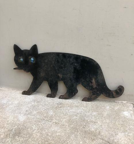 Early 20th Century Cat Bird Scarer - Early Blue Cone Marble Eyes