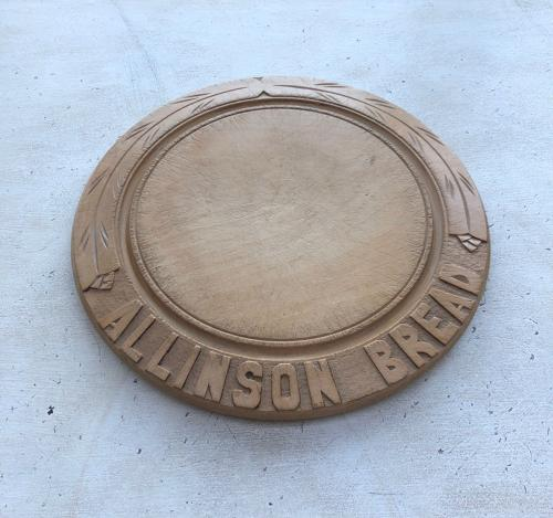 Early 20thC Carved Advertising Bread Board - Allinson Bread