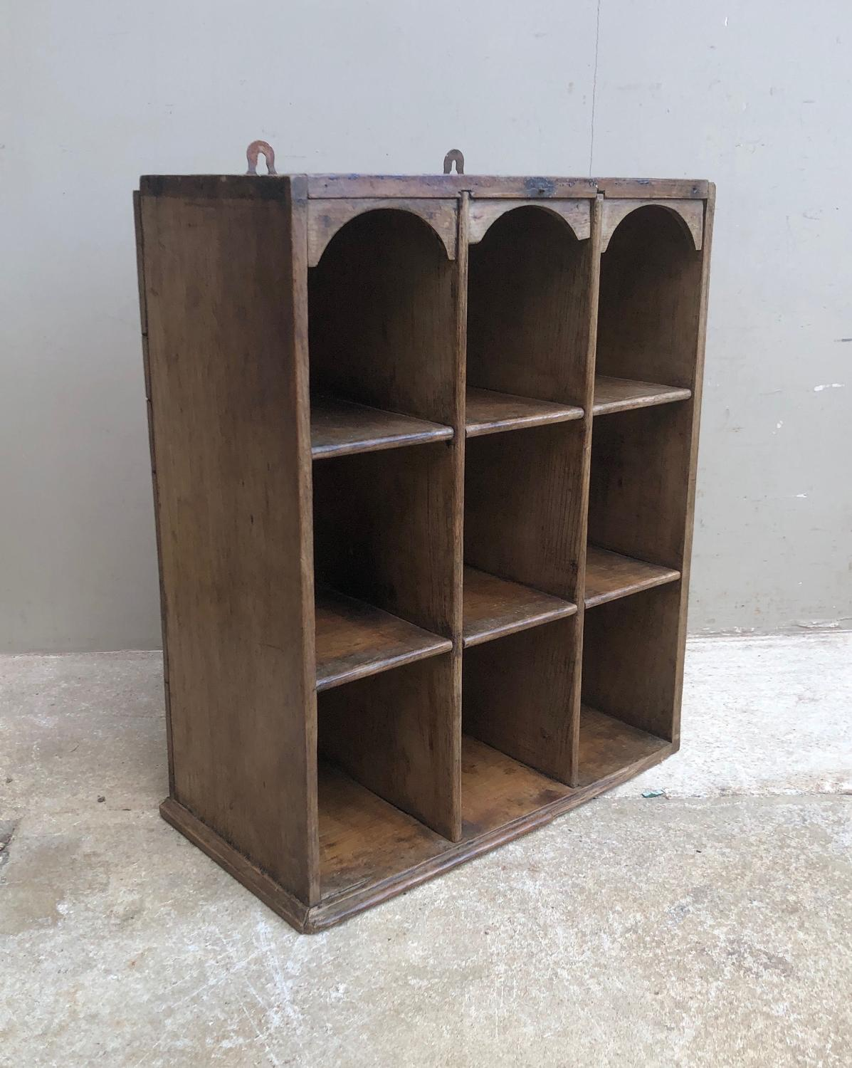Late Victorian Small Pine Pigeon Holes - Perfect Kitchen Unit