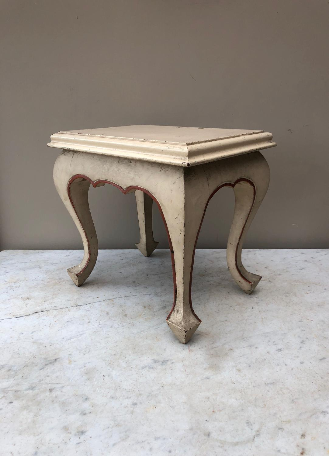 Early 20th Century Painted Oak Stool - Low Side Table