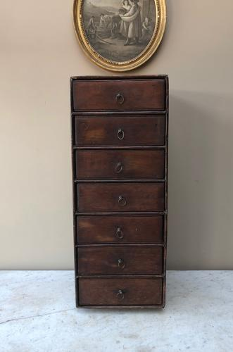 Late Victorian Cobblers Pine Bank of Seven Drawers