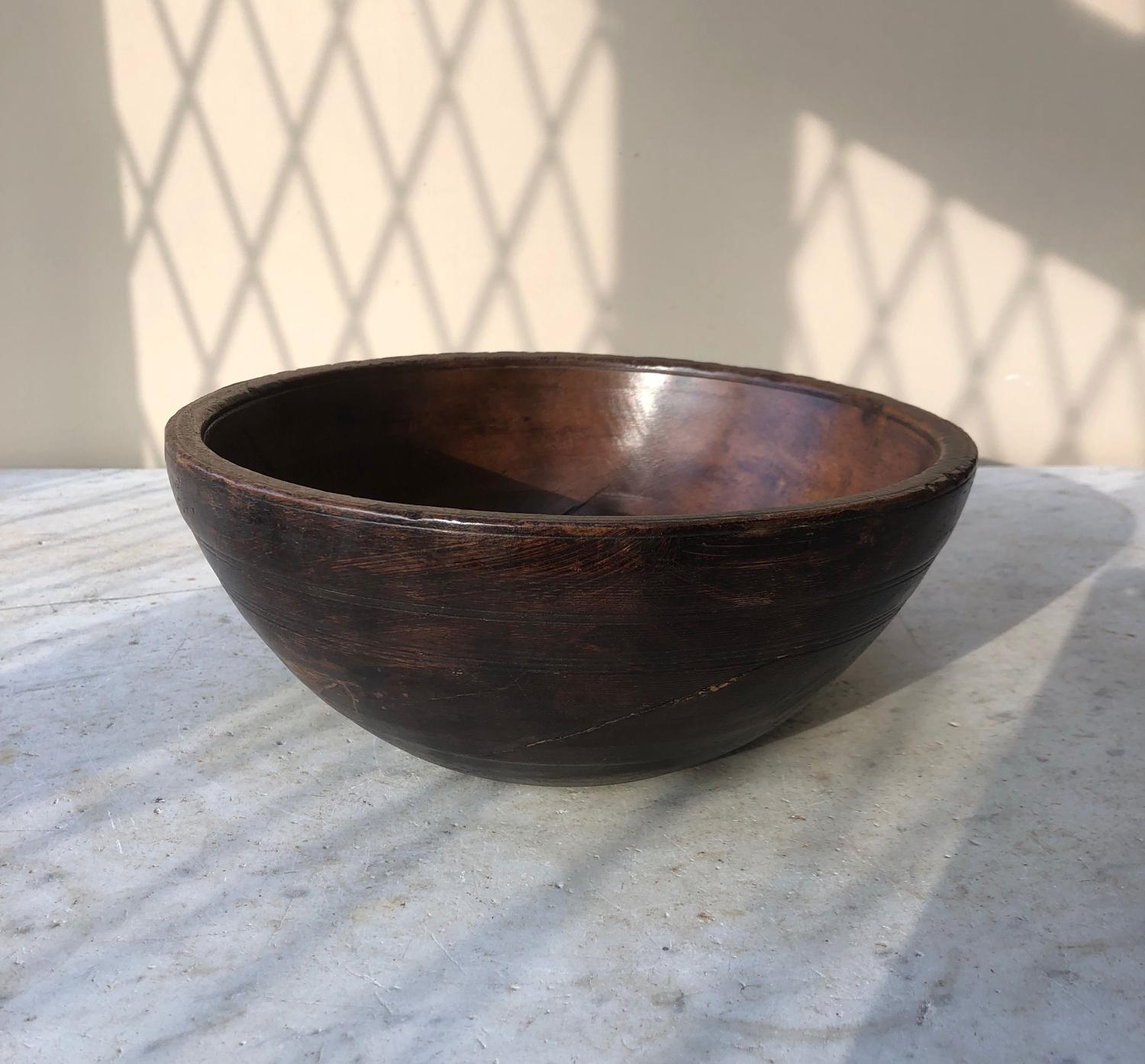Early 20th Century Turned Welsh Bowl - Superb Colour