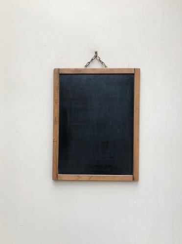 C.1940s Pine Framed Blackboard- Good Large Size for Kitchen Memo Board