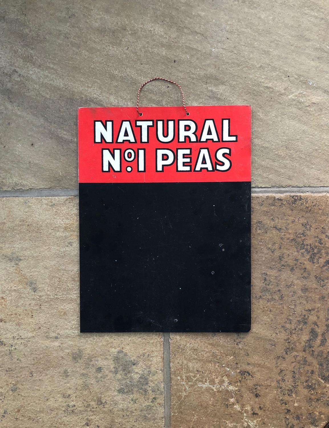 1940s Double Sided Advertising Blackboard - Lin Can Peas