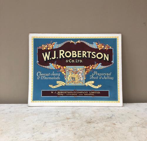 Rare Original Artwork for WJ Robertson Advert c.1910