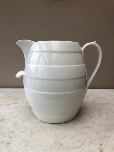 Victorian Mammoth White Banded Jug - Holds 26 Pints