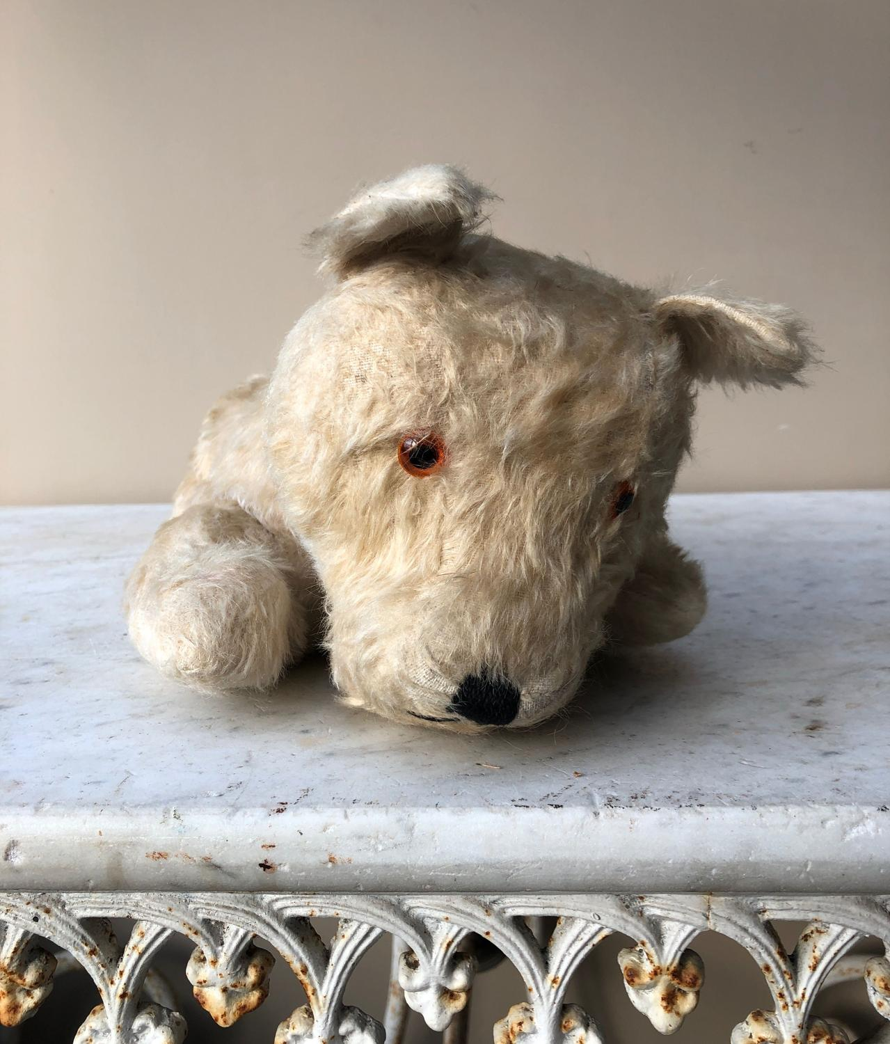 1930s Straw Filled Dog Pyjama Case - Very Useable Condition
