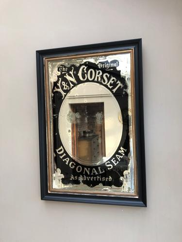 Edwardian Y & N Corset Advertising Mirror - Later Frame