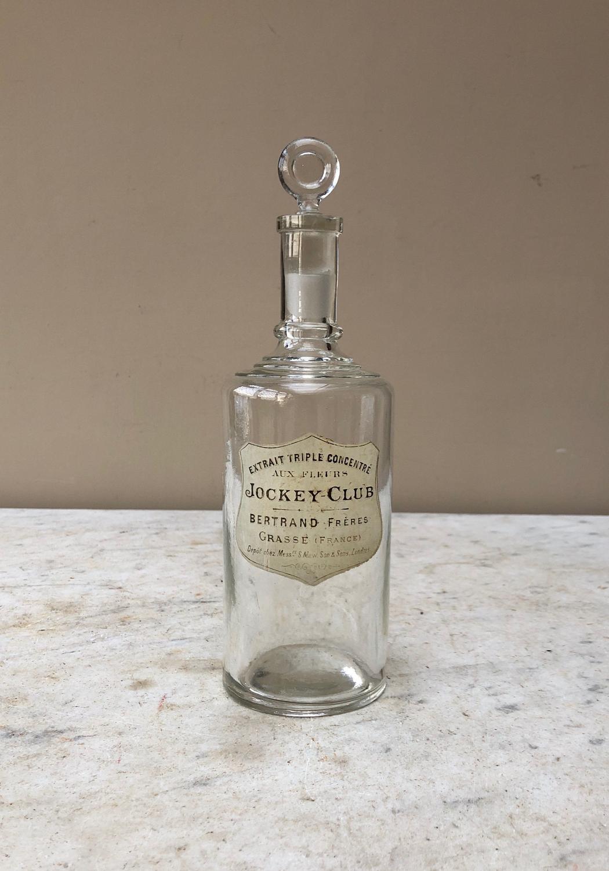 Edwardian Glass Perfume Bottle - Bertrand Freres Grasse France