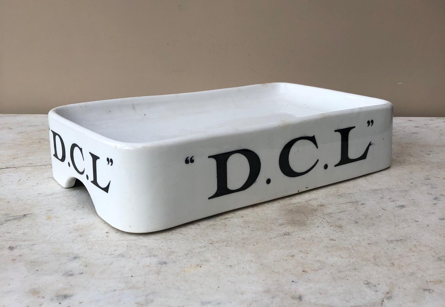 Edwardian White Ironstone Grocers Advertising Slab - DCL Yeast