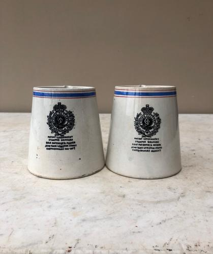 Rare Victorian Government 1 Pint Measure Checking Mugs