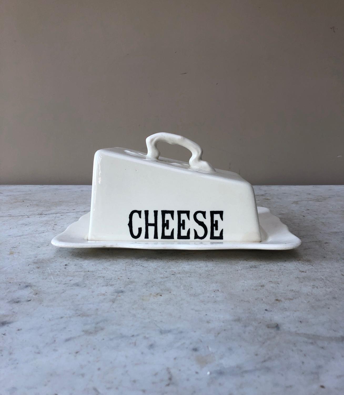 Masons Mid Century Black on White Cheese Dish