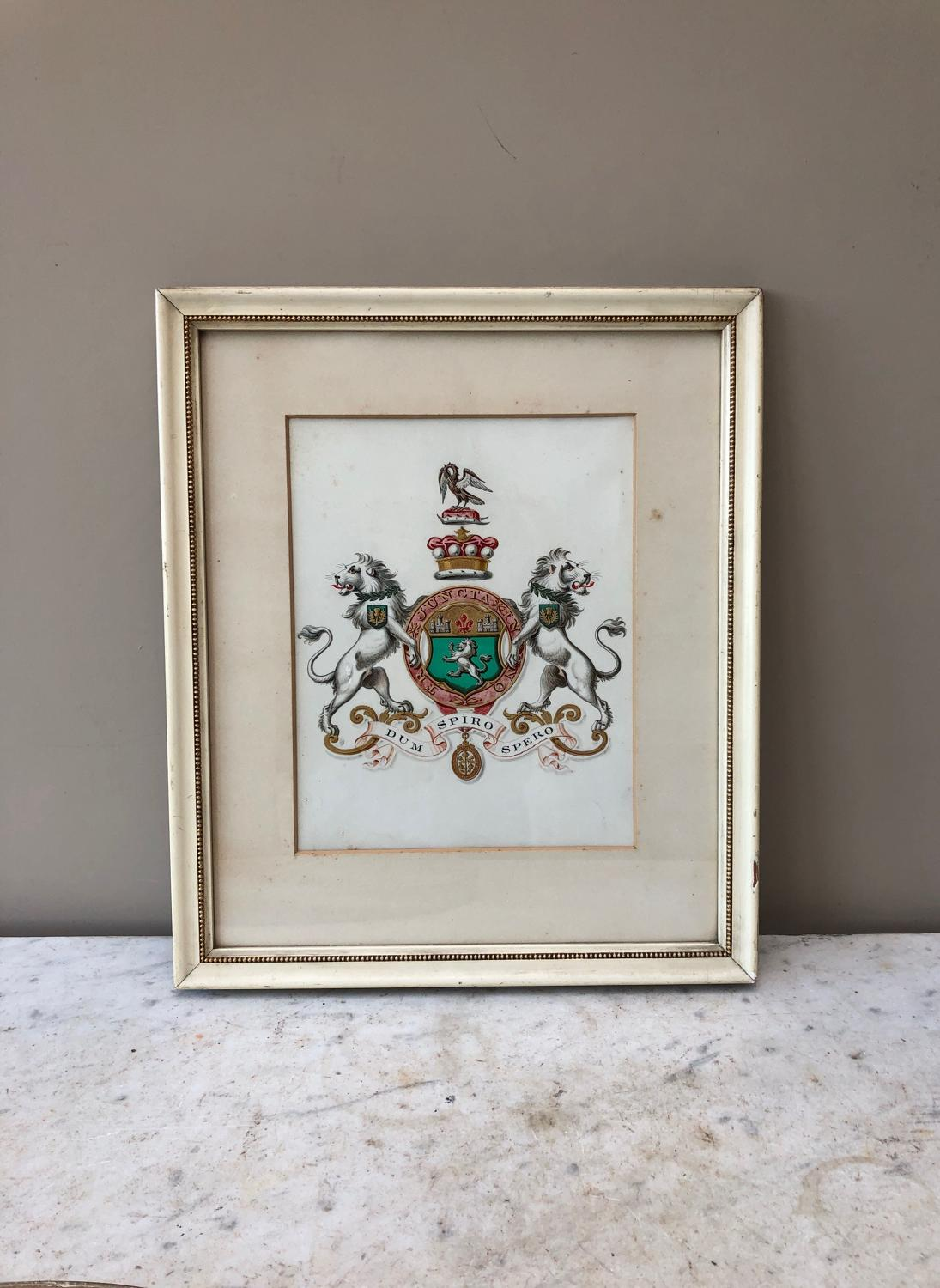 Victorian Arms of Lord Playfair 1893 - Watercolour