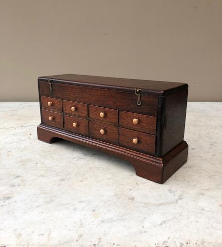 Edwardian Mahogany Watchmakers Bank of Drawers