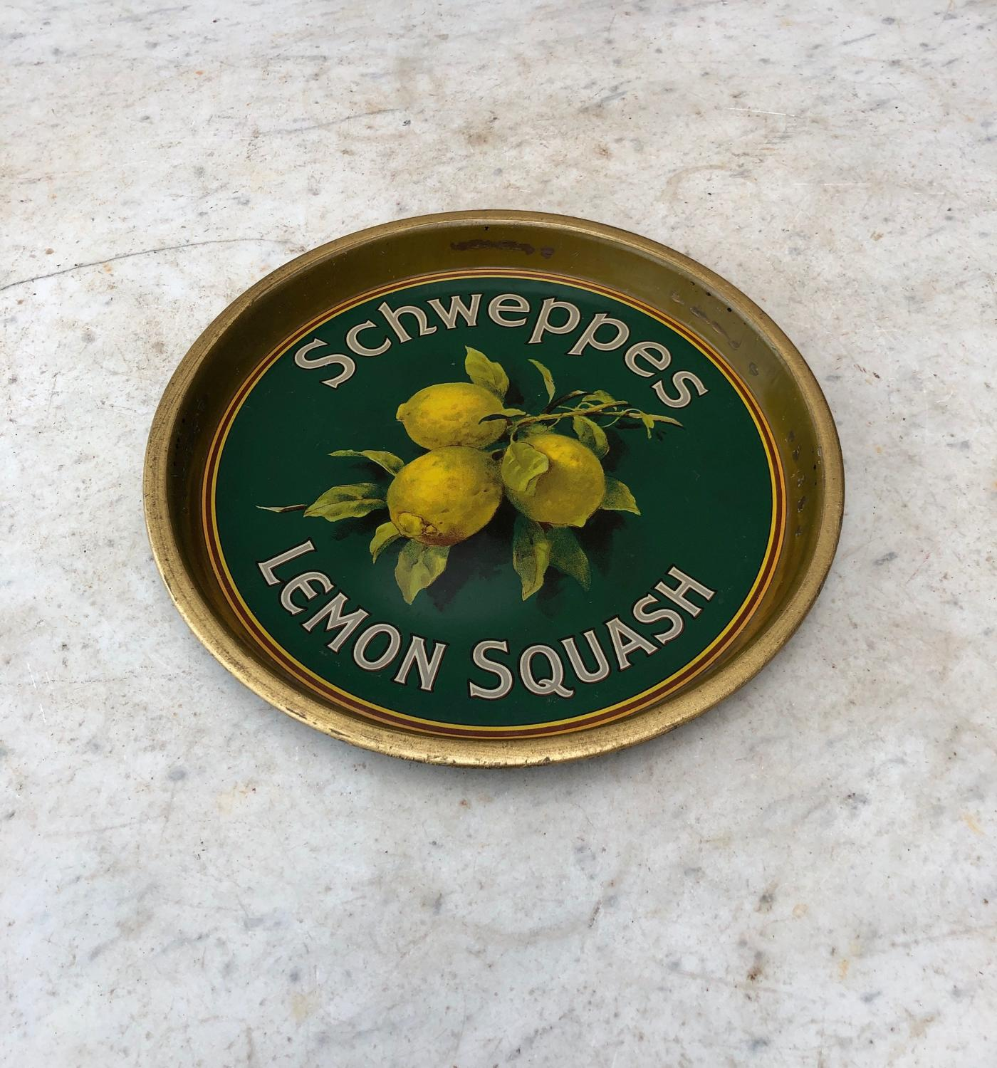 Wonderful 1930s Advertising Tray - Schwepps Lemon Squash