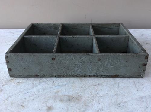 Late Victorian Pine Tray - Pigeon Holes - Original Paint