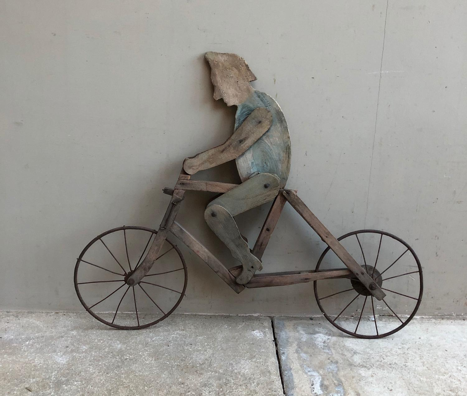 Unusual Early 20th Century Wooden Shop Sign - Bikes - Deliveries