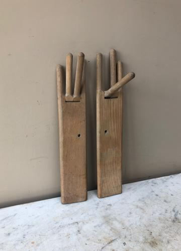 Rare Pair Georgian Lady's Glove Driers Stretchers Articulated Fingers