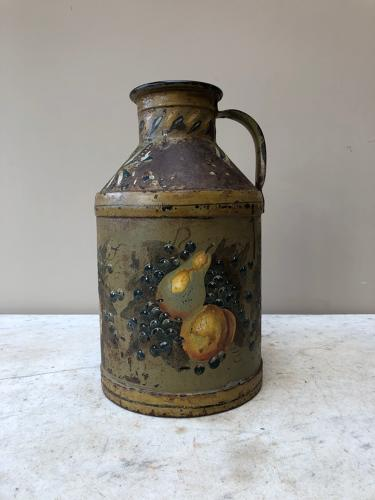 Victorian Iron Container in Fantastic Original Paint