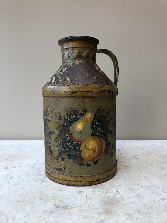 Victorian Iron Container in Fantastic Original Paint