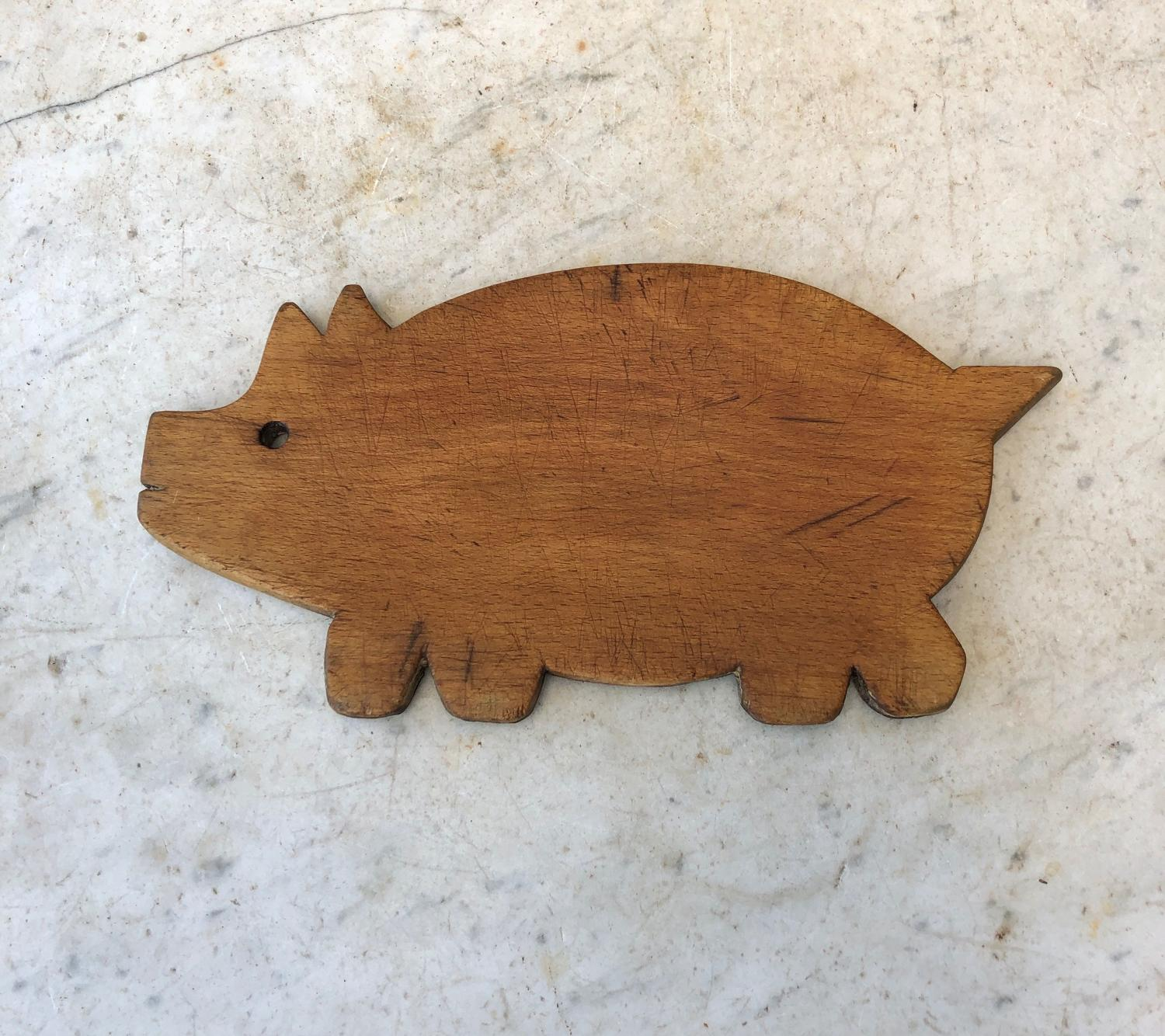 Early 20th Century Collectable Pig Chopping Board