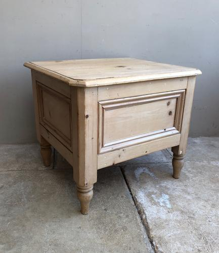 Late Victorian Box - Side Table - Seat Shoe Box with Lift Up Lid