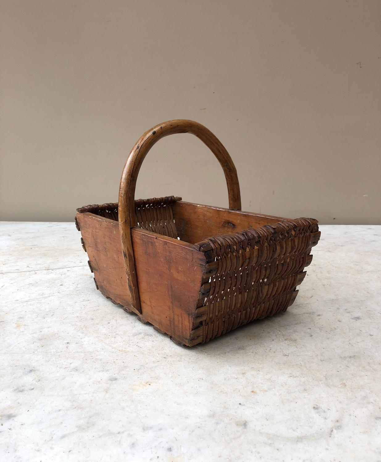 Victorian Strawberry or Berry Basket with Solid Pine Sides
