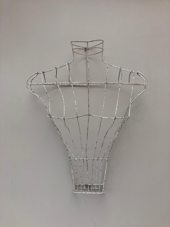 1930s Wire Work Femail Form Mannequin - Original Paint
