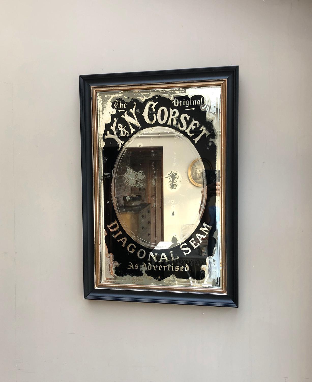 Edwardian Advertising Mirror - The Original Y&N Corset