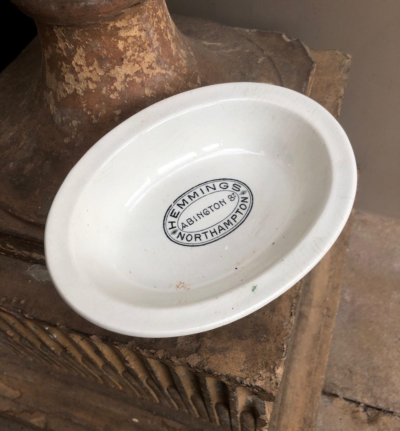 Edwardian White Ironstone Butchers Potted Meat Dish