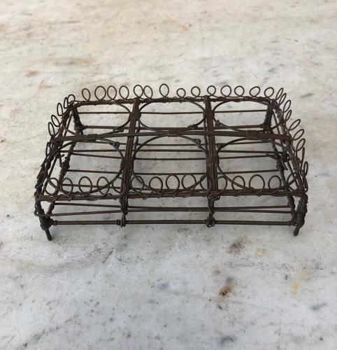 Victorian Wire Work Loop Top Small Egg Rack - Half a Dozen Eggs