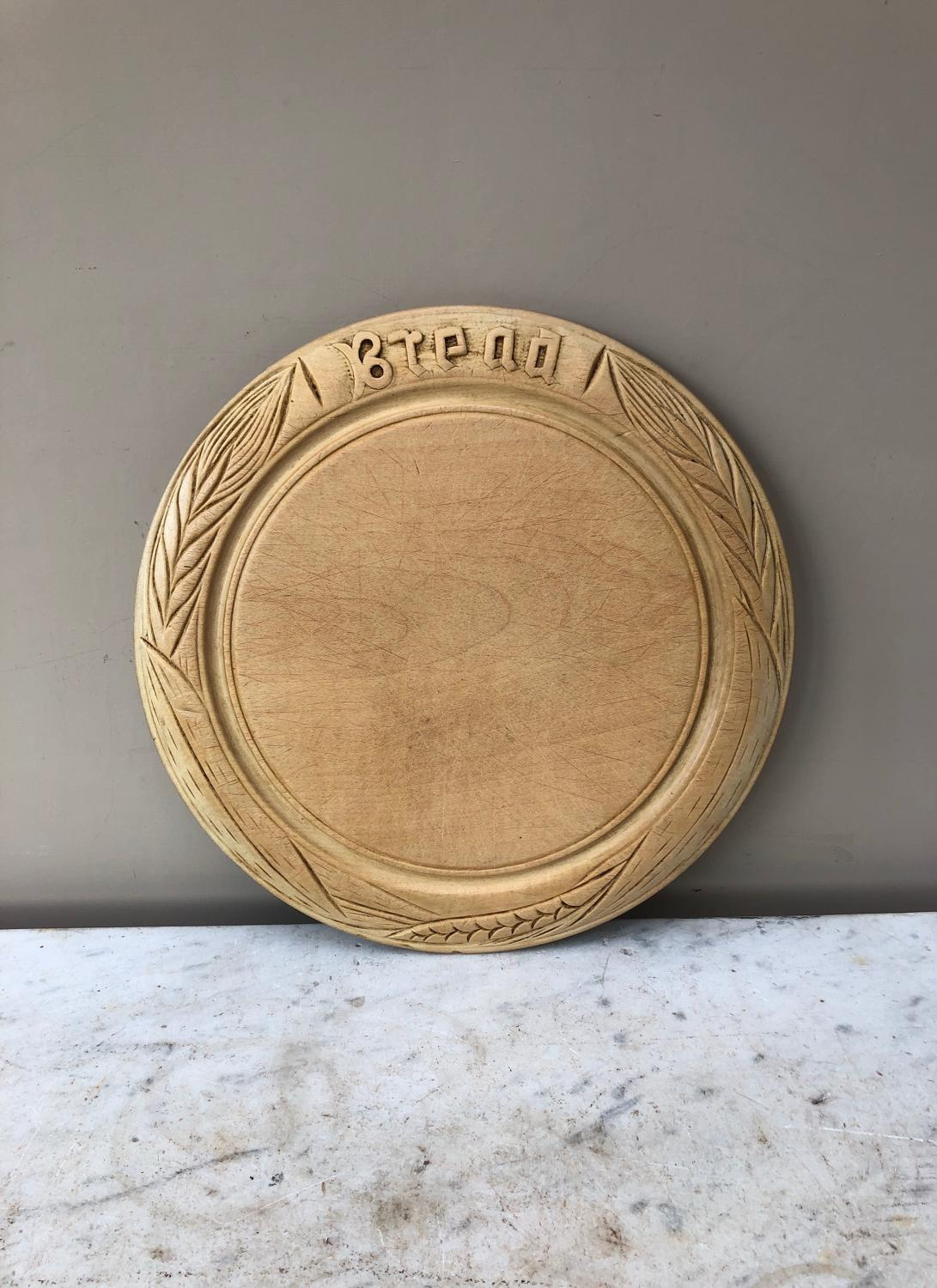 Late Victorian Excellent Condition Carved Bread Board