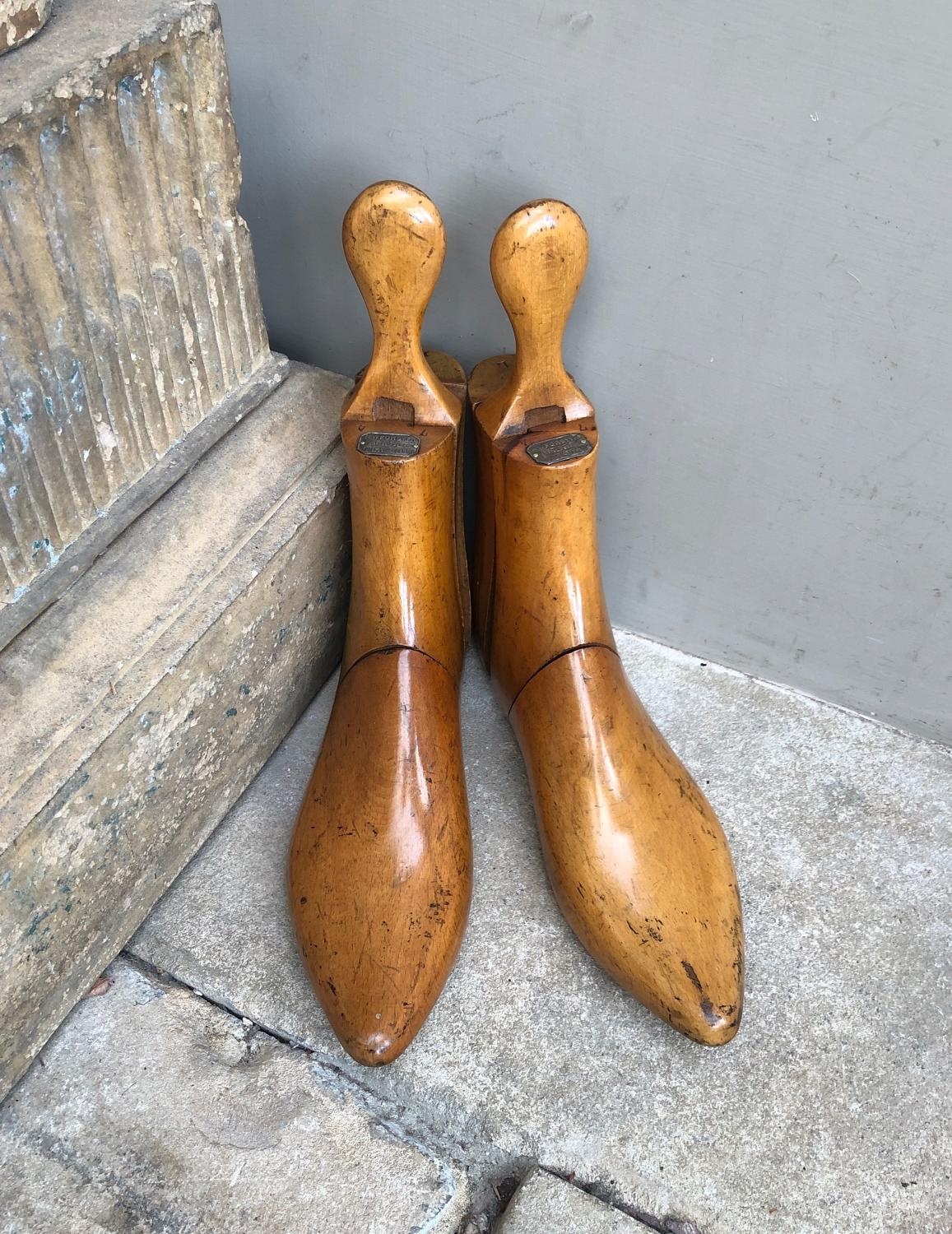 Late Victorian Treen Gentlemans Boot Trees - RW Forsyth Glasgow