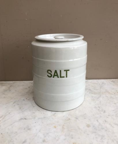 Large Grimwades Hooped Kitchen Storage Jar - Salt