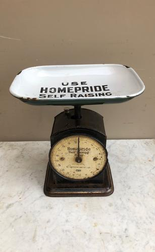 Early 20thC Advertising Kitchen Scales - Homepride Self Raising Flour
