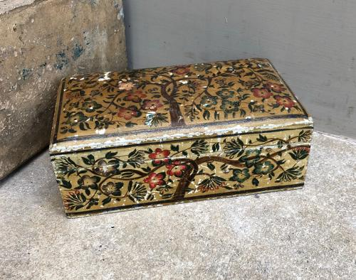 1940s Hand Painted Box - Tree of Life