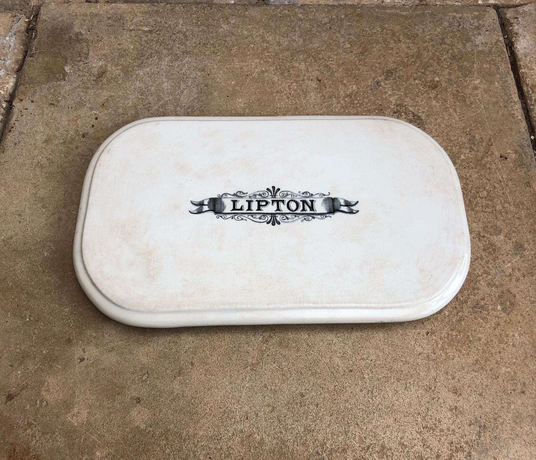 Rare Late Victorian White Ironstone Lipton Shop's Display Slab