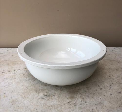 Super Early 20th Century White Ironstone Bowl - Perfect Fruit Bowl