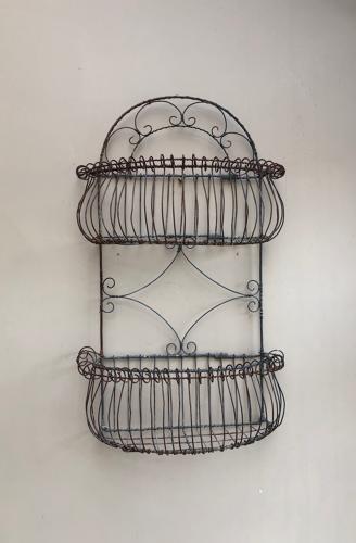 C.1940 Decorative Wire Work Wall Hung Shelf
