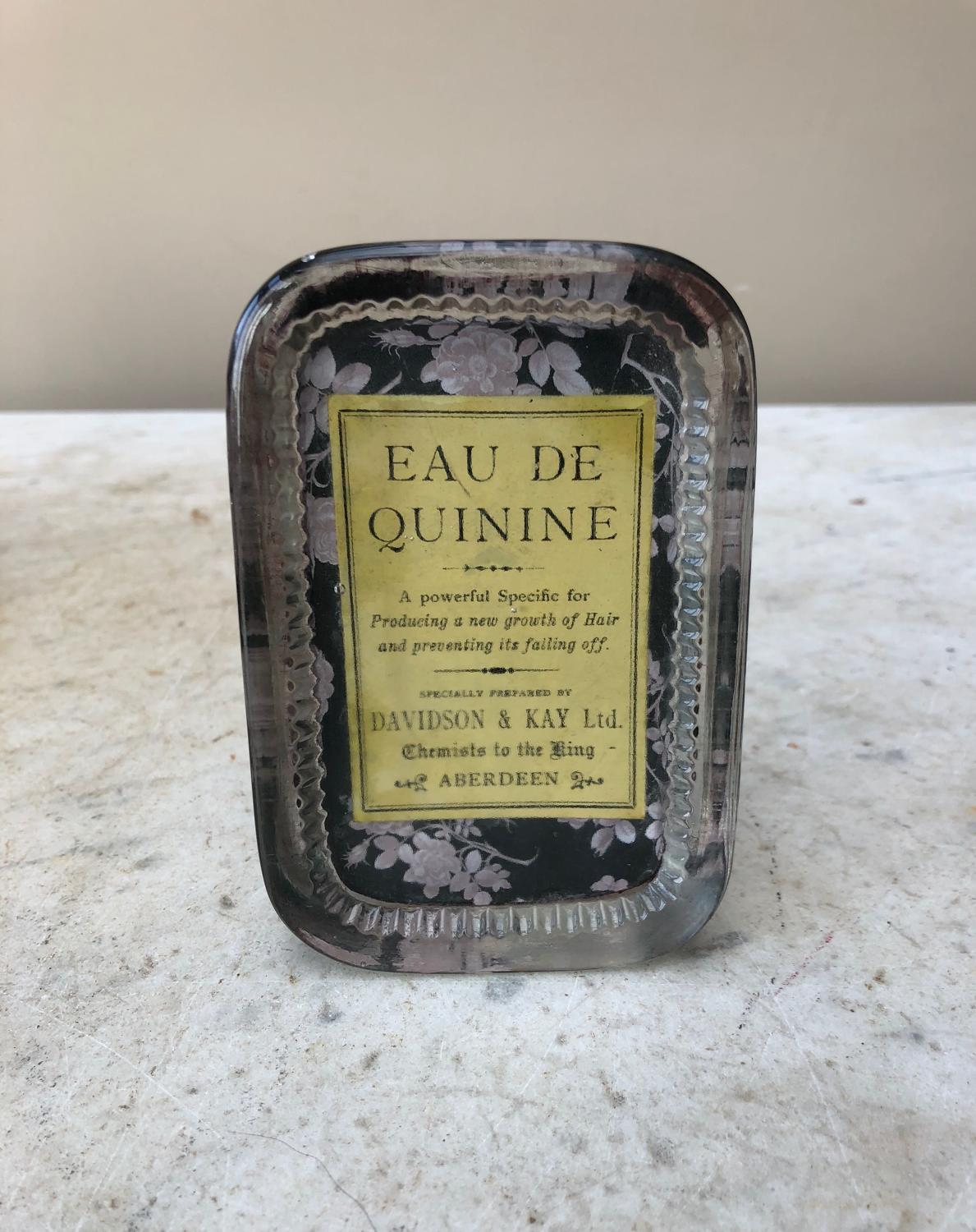 Early 20th Century Glass Advertising Paperweight - Eau de Quinine