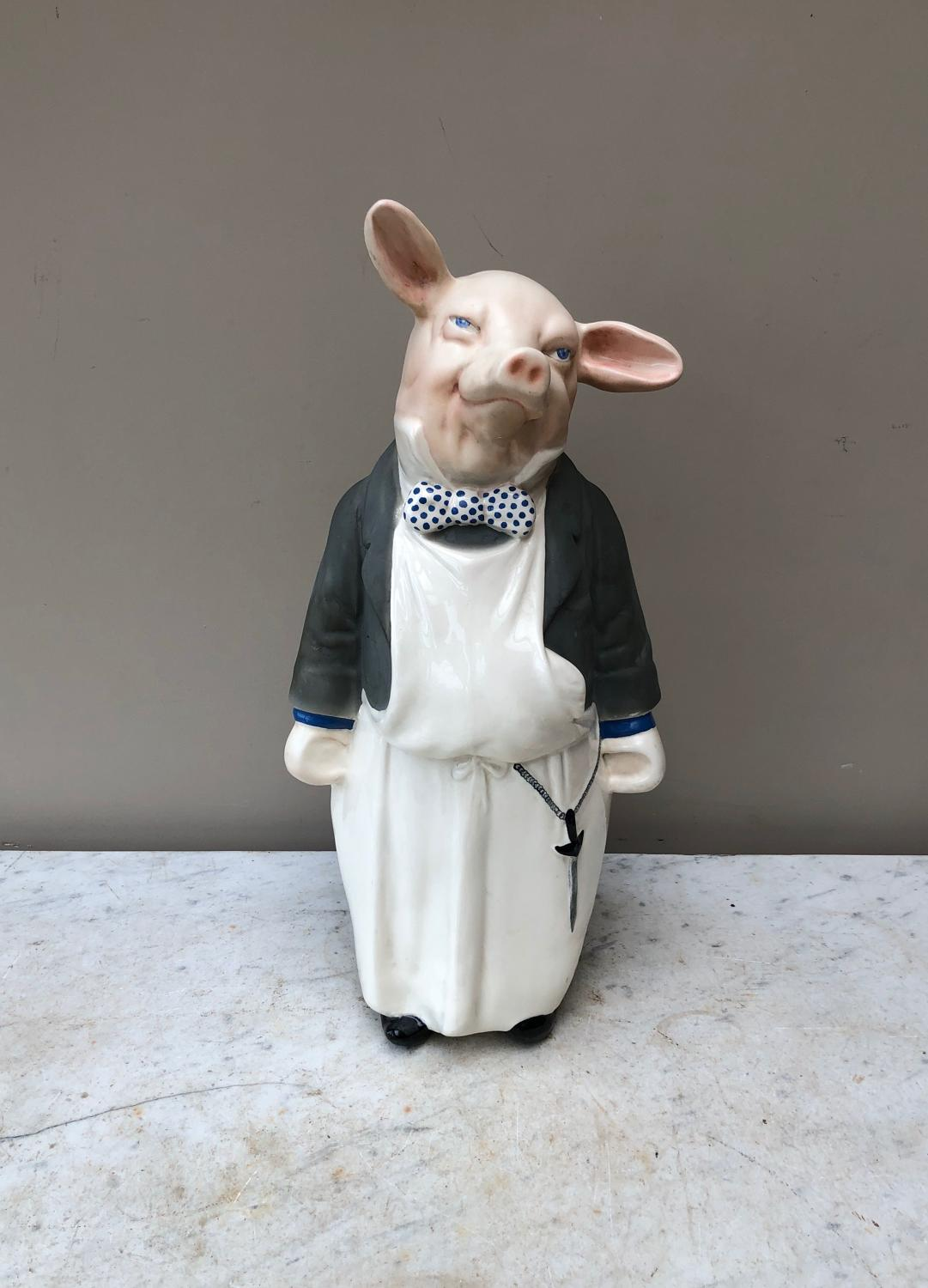 Superb Condition Mid Century Melba Ware Butchers Display Pig