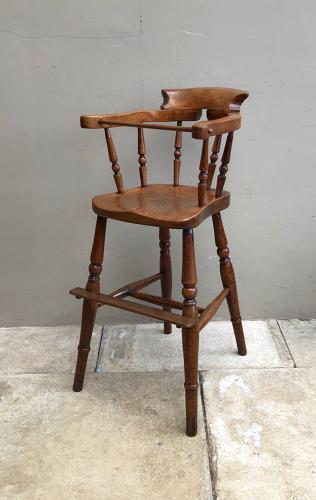 Victorian Superb Condition & Colour Childs High Chair