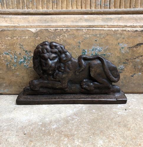 Victorian Cast Iron Lion Chimney Piece - Door Stop