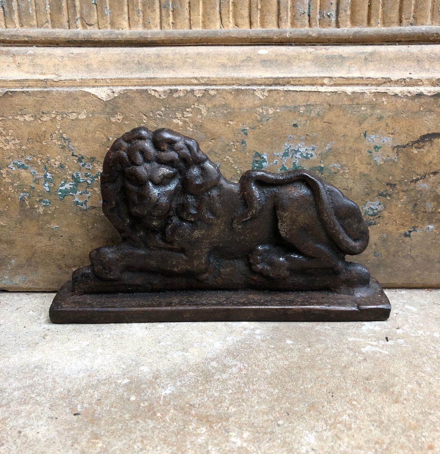 Victorian Cast Iron Lion Chimney Piece - Door Stop
