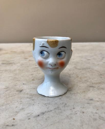 Late Victorian Face Egg Cup