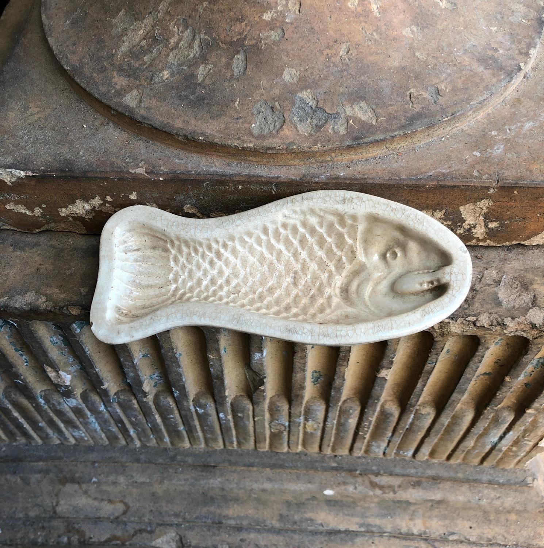 Victorian Small Ironstone Fish Mould
