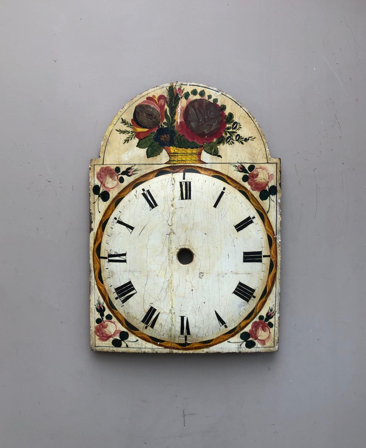 Georgian Pine Hand Painted Clock Face
