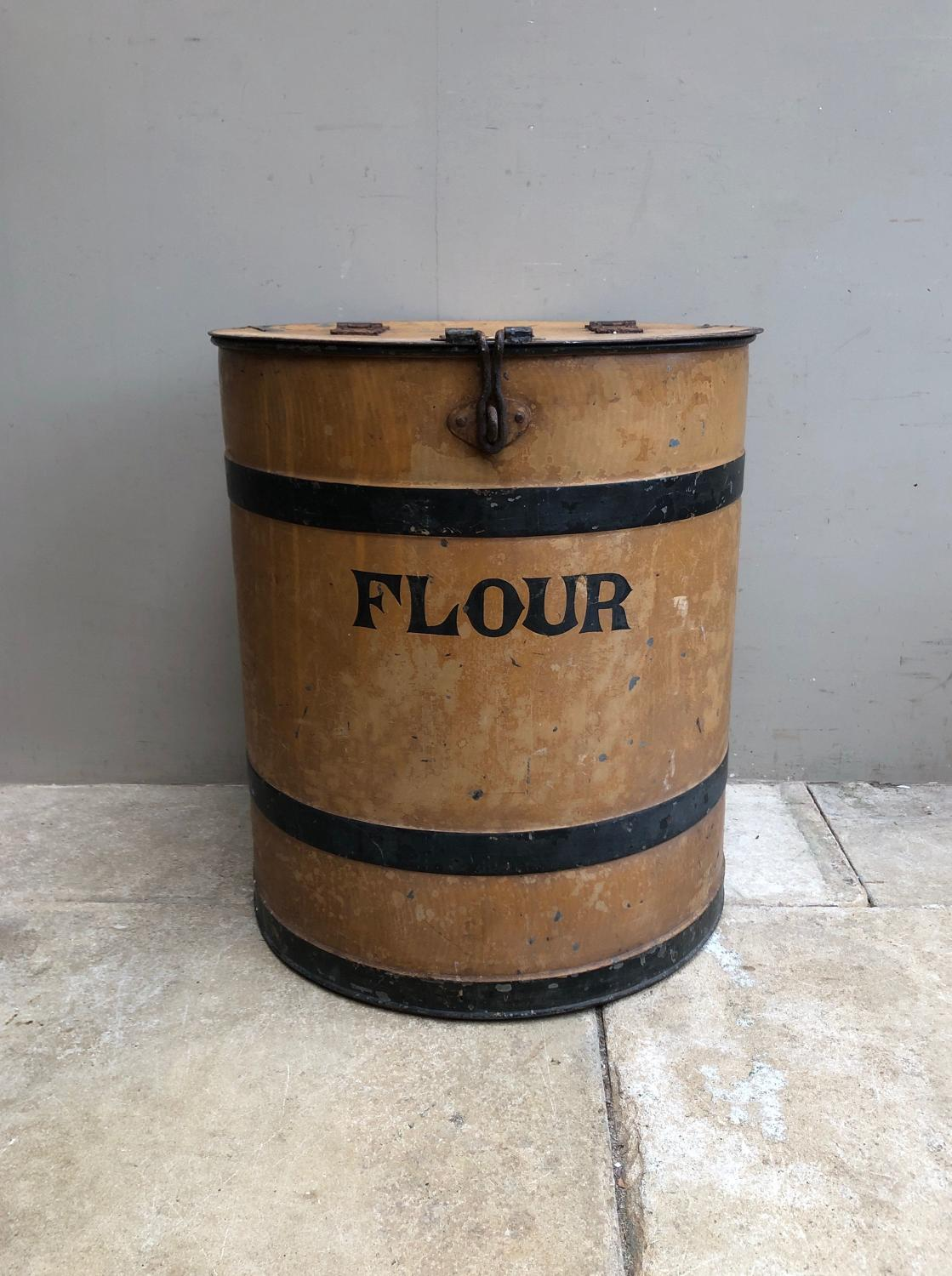 Superb Victorian Toleware Flour Bin - Great Original Condition