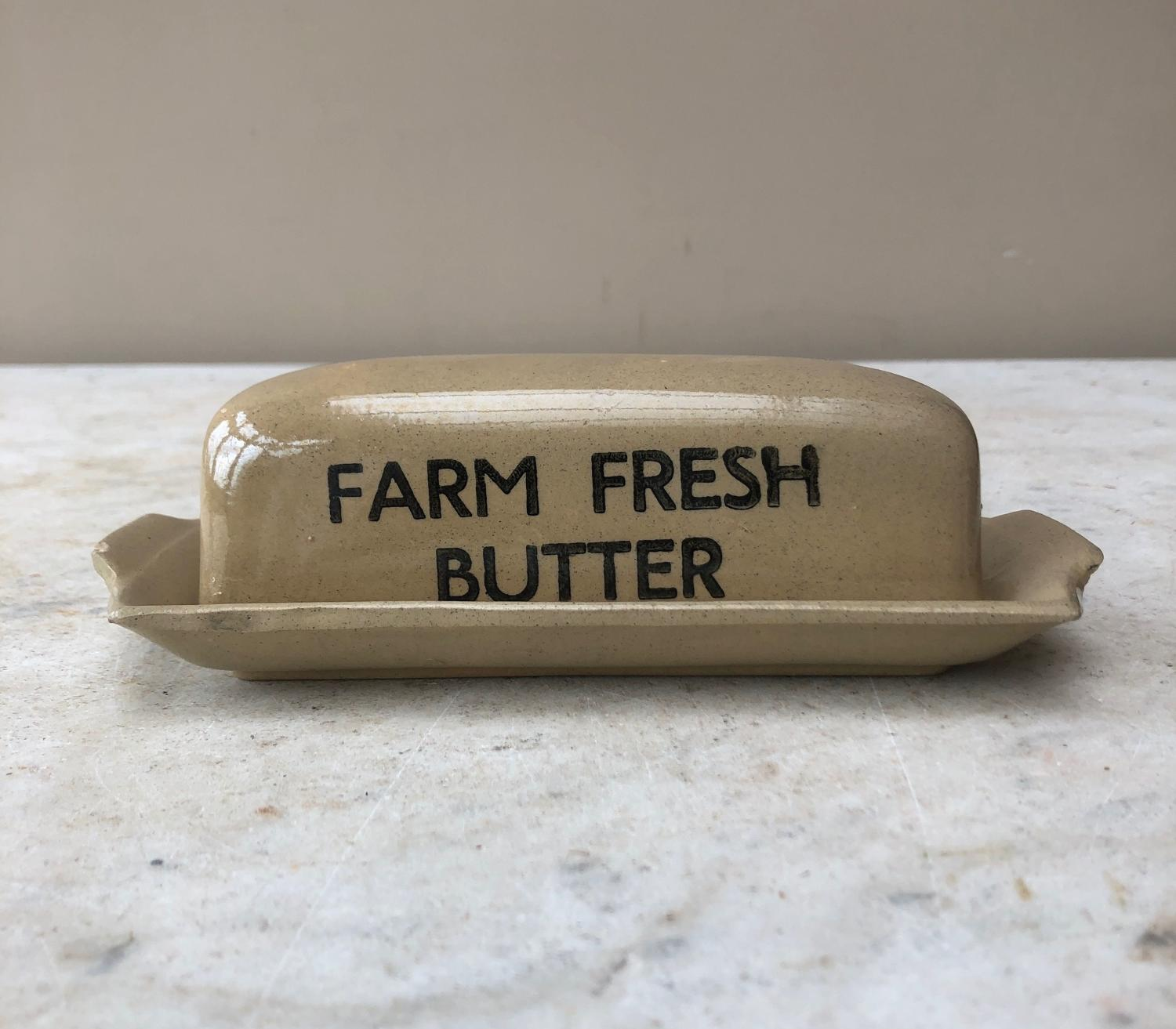 Mid Century Farm Fresh Butter Dish